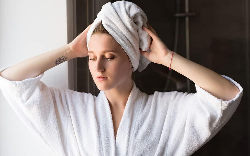 Hair Towels after bath
